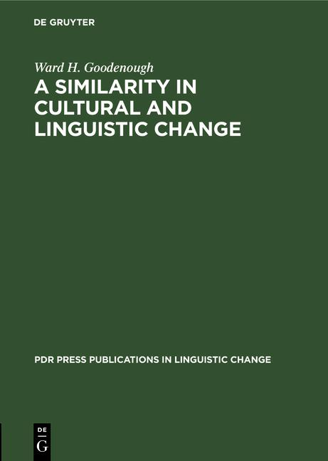 Cover-Bild A similarity in cultural and linguistic change