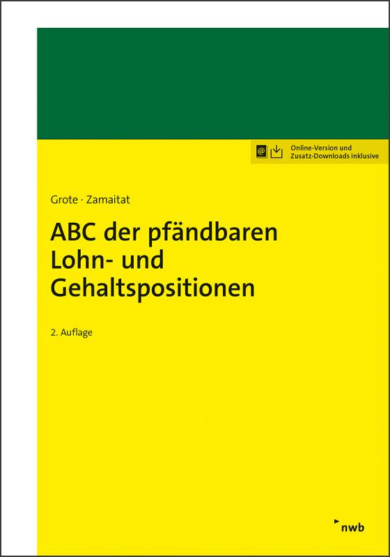 Cover-Bild ABC der pfändbaren Lohn- und Gehaltspositionen