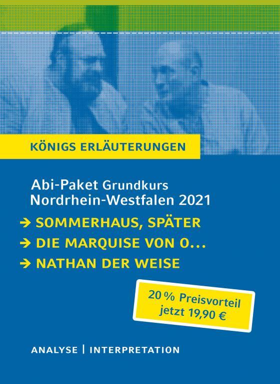 Cover-Bild Abitur-Paket Nordrhein-Westfalen 2021. Deutsch Grundkurs - Königs Erläuterungen