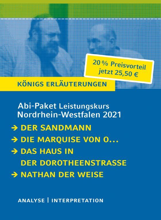 Cover-Bild Abitur-Paket Nordrhein-Westfalen 2021. Deutsch Leistungskurs - Königs Erläuterungen