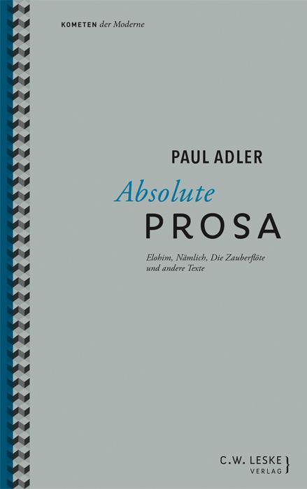 Cover-Bild Absolute Prosa