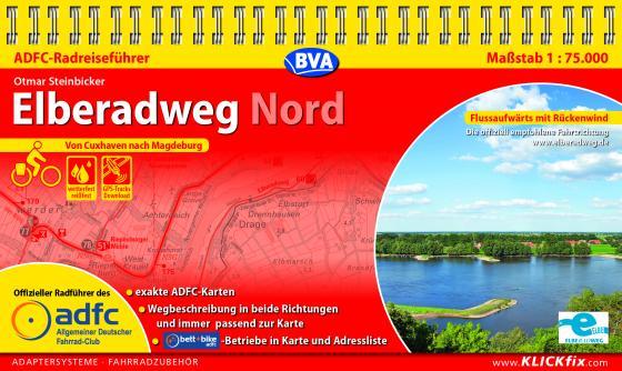 Cover-Bild ADFC-Radreiseführer Elberadweg Nord 1:75.000 praktische Spiralbindung, reiß- und wetterfest, GPS-Tracks Download
