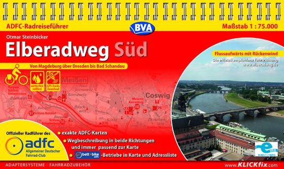 Cover-Bild ADFC-Radreiseführer Elberadweg Süd 1:75.000 praktische Spiralbindung, reiß- und wetterfest, GPS-Tracks Download