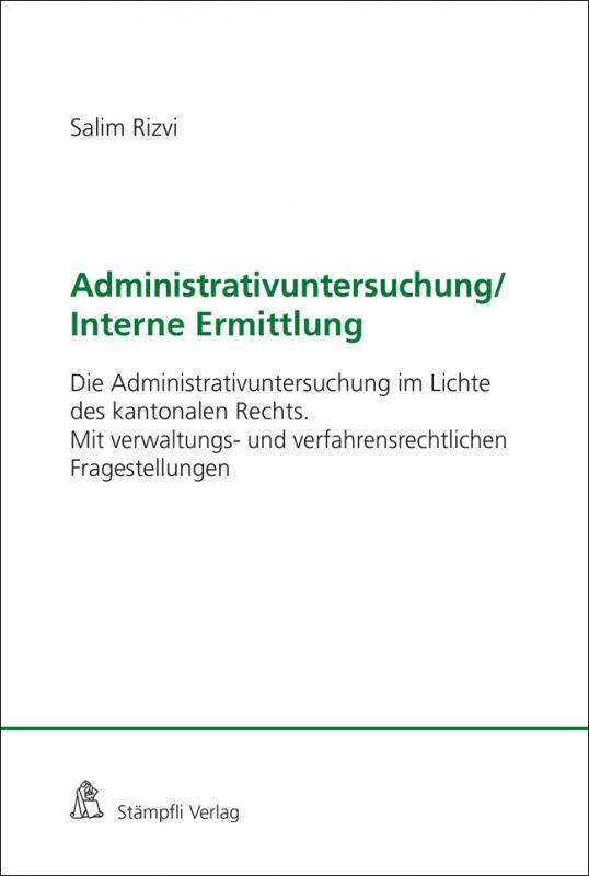 Cover-Bild Administrativuntersuchung / Interne Ermittlung