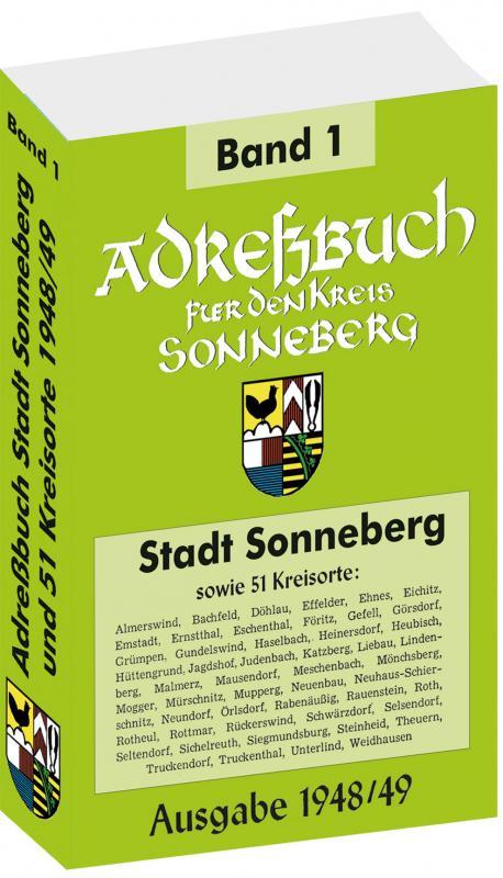 Cover-Bild Adreßbuch der Stadt SONNEBERG 1948/49 und 51 Kreisorte