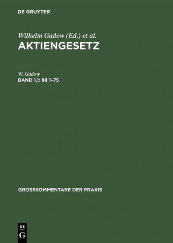 Cover-Bild Aktiengesetz / §§ 1–75