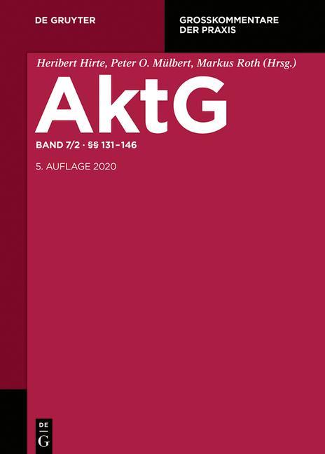 Cover-Bild Aktiengesetz / §§ 131-146