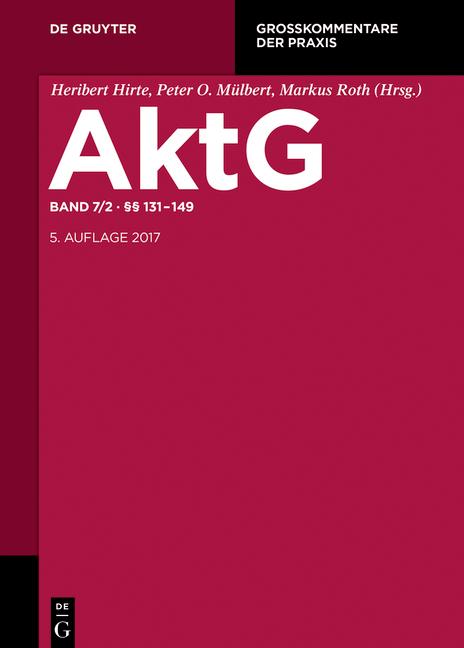 Cover-Bild Aktiengesetz / §§ 131-149