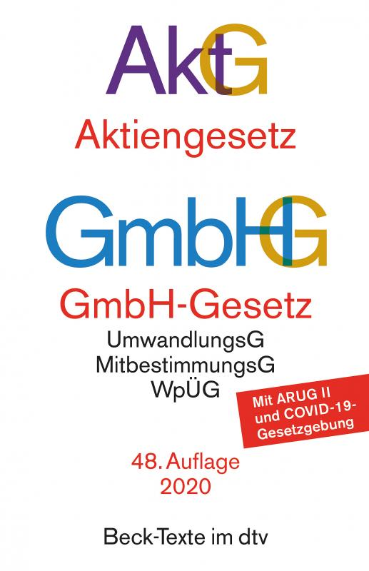Cover-Bild Aktiengesetz · GmbH-Gesetz
