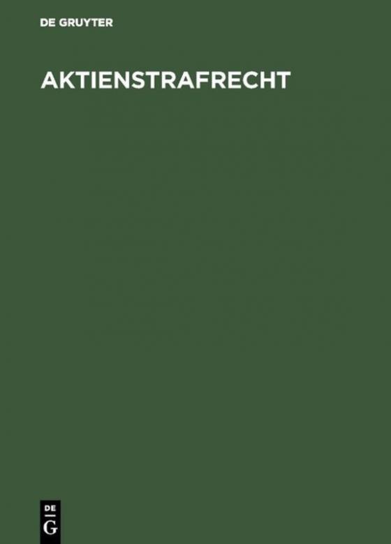 Cover-Bild Aktienstrafrecht