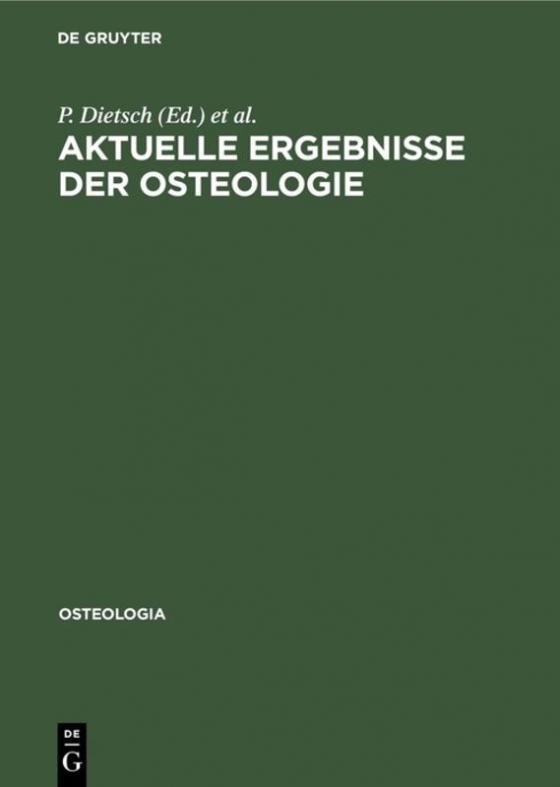 Cover-Bild Aktuelle Ergebnisse der Osteologie