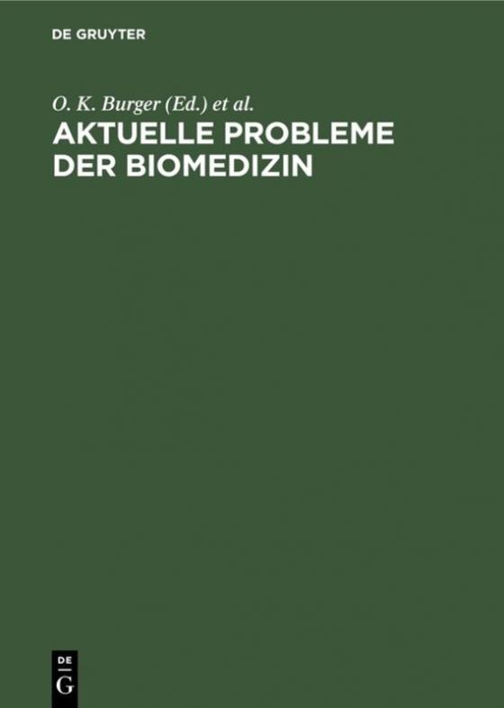 Cover-Bild Aktuelle Probleme der Biomedizin
