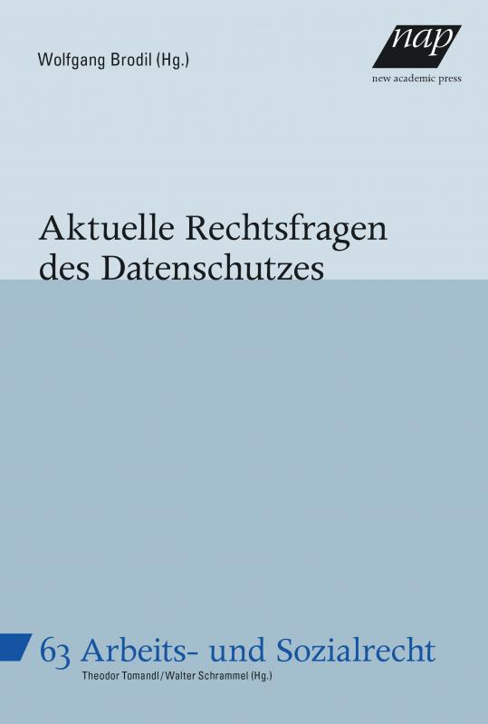 Cover-Bild Aktuelle Rechtsfragen des Datenschutzes