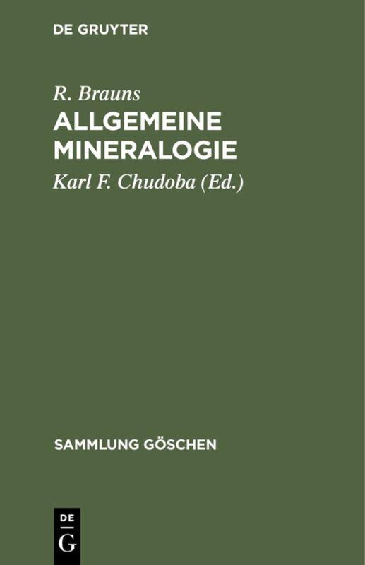 Cover-Bild Allgemeine Mineralogie