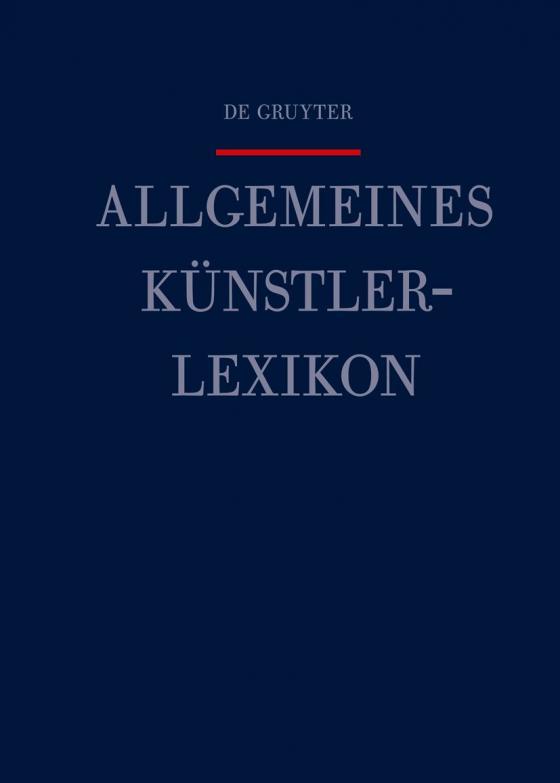 Cover-Bild Allgemeines Künstlerlexikon (AKL) / Tur - Valldosera