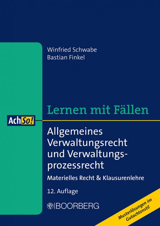Cover-Bild Allgemeines Verwaltungsrecht und Verwaltungsprozessrecht