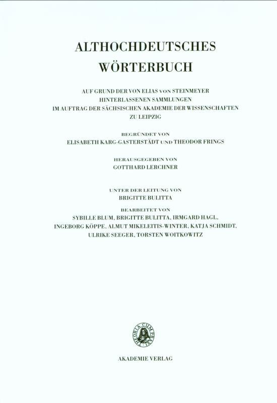 Cover-Bild Althochdeutsches Wörterbuch / Band VI: M–N. 10. Lieferung (mit bis mor(a)beri)