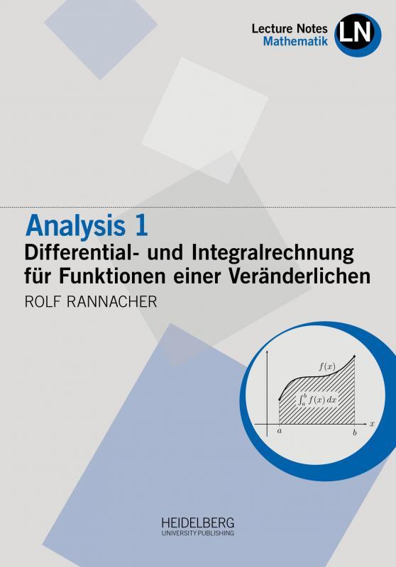 Cover-Bild Analysis 1 / Differential- und Integralrechnung für Funktionen einer Veränderlichen