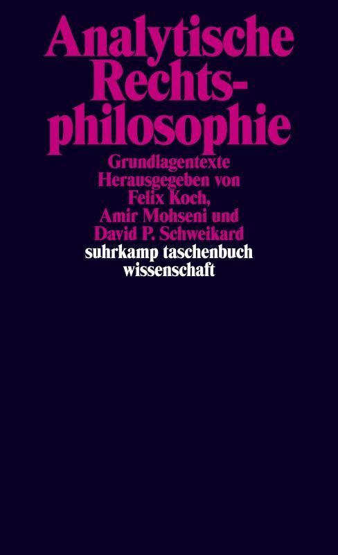 Cover-Bild Analytische Rechtsphilosophie