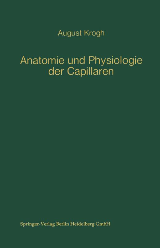 Cover-Bild Anatomie und Physiologie der Capillaren