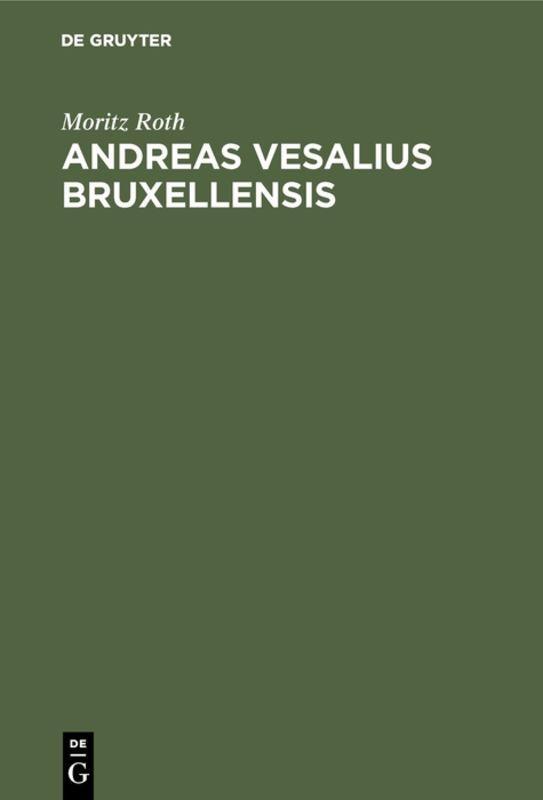 Cover-Bild Andreas Vesalius Bruxellensis