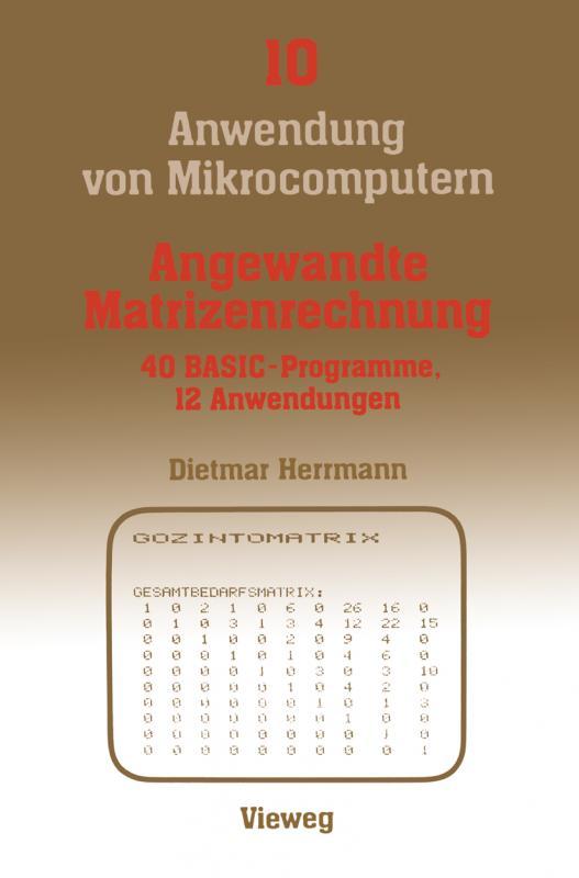 Cover-Bild Angewandte Matrizenrechnung