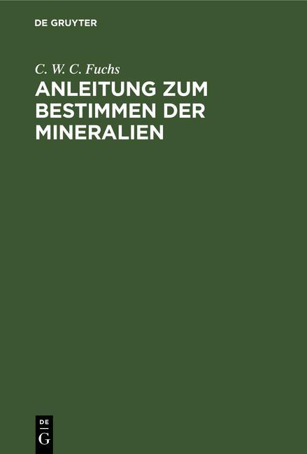 Cover-Bild Anleitung zum Bestimmen der Mineralien