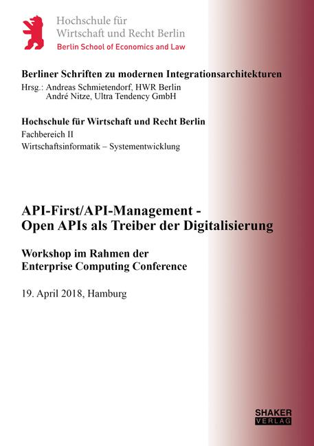 Cover-Bild API-First/API-Management - Open APIs als Treiber der Digitalisierung