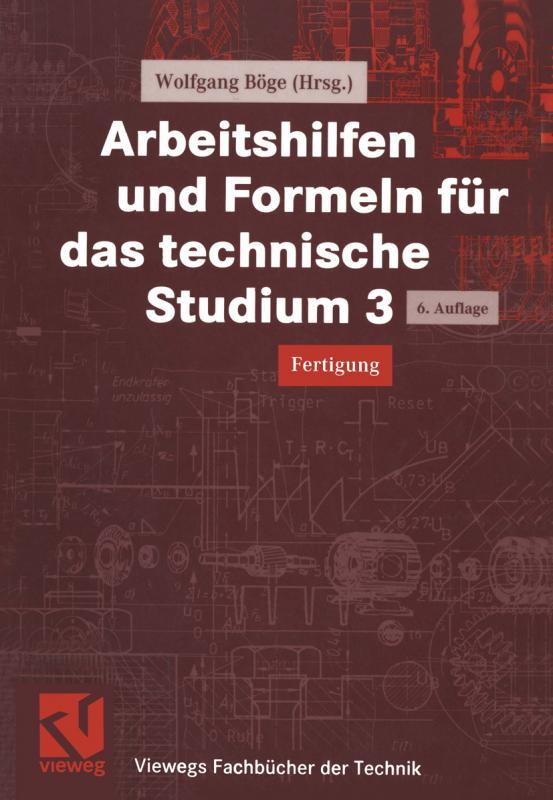 Cover-Bild Arbeitshilfen und Formeln für das technische Studium 3
