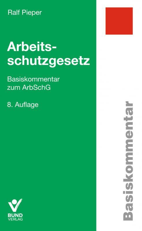Cover-Bild Arbeitsschutzgesetz