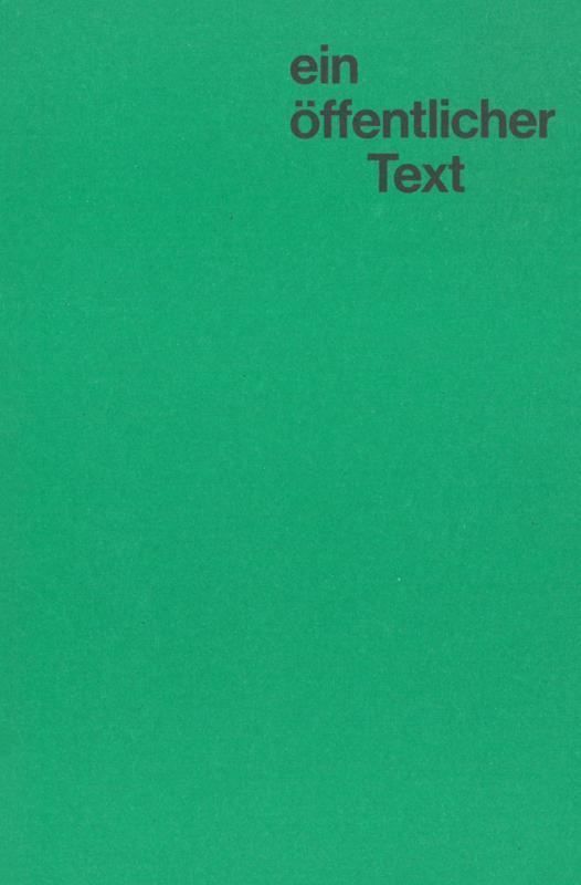 Cover-Bild Arne Schmitt: ein öffentlicher text