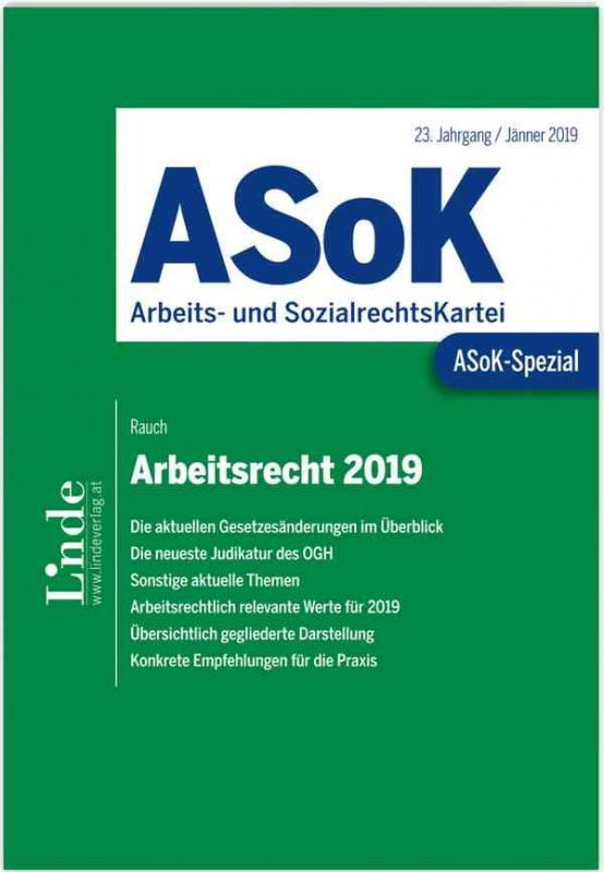 Cover-Bild ASoK-Spezial Arbeitsrecht 2019