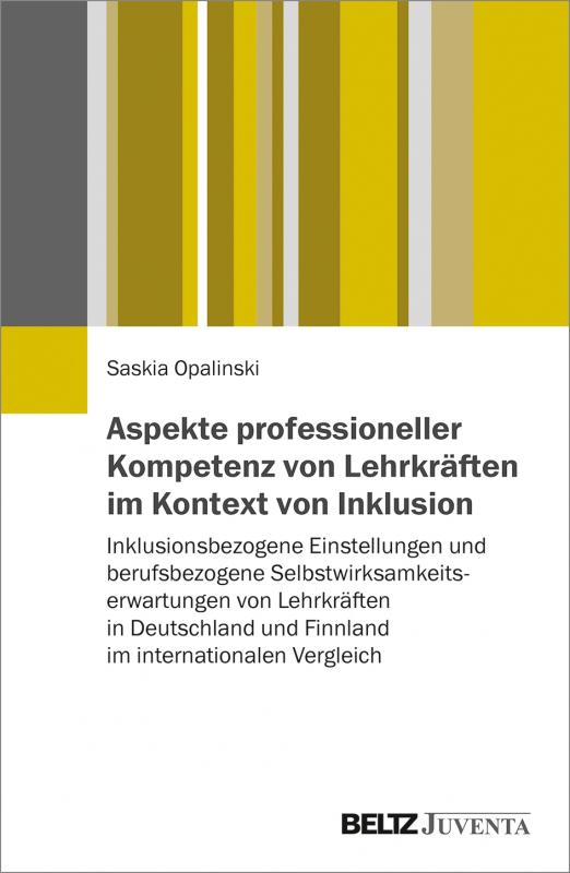 Cover-Bild Aspekte professioneller Kompetenz von Lehrkräften im Kontext von Inklusion