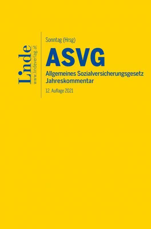 Cover-Bild ASVG | Allgemeines Sozialversicherungsgesetz 2021
