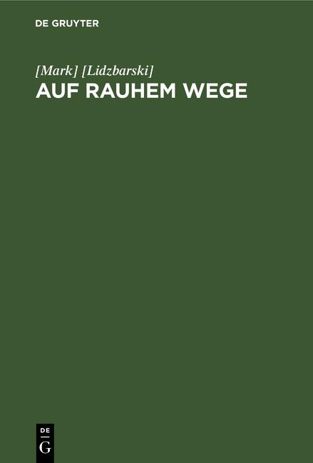 Cover-Bild Auf rauhem Wege