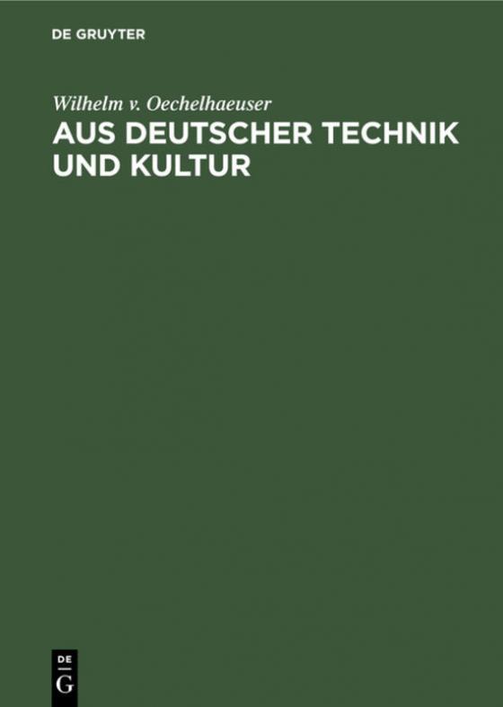 Cover-Bild Aus deutscher Technik und Kultur