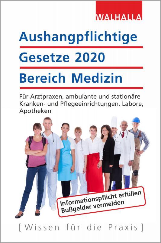 Cover-Bild Aushangpflichtige Gesetze 2020 Bereich Medizin