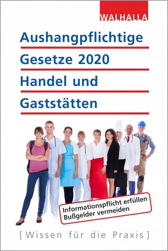 Cover-Bild Aushangpflichtige Gesetze 2020 Handel und Gaststätten