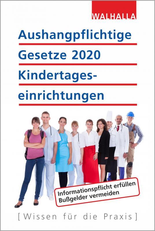 Cover-Bild Aushangpflichtige Gesetze 2020 Kindertageseinrichtungen