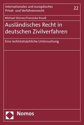 Cover-Bild Ausländisches Recht in deutschen Zivilverfahren