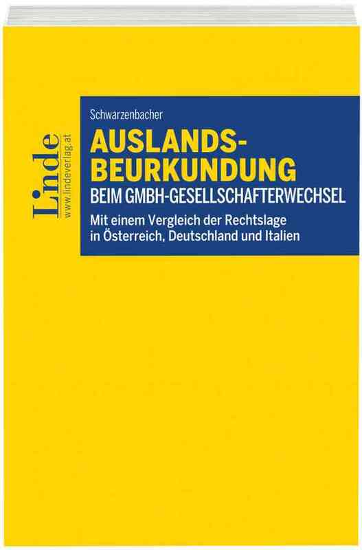 Cover-Bild Auslandsbeurkundung beim GmbH-Gesellschafterwechsel
