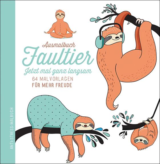 Cover-Bild Ausmalbuch Faultier