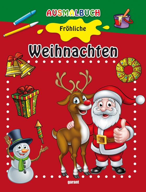 Cover-Bild Ausmalbuch Fröhliche Weihnachten