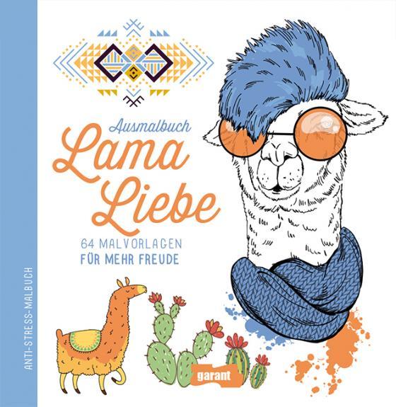 Cover-Bild Ausmalbuch Lama Liebe