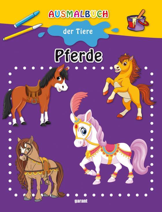 Cover-Bild Ausmalbuch Pferde