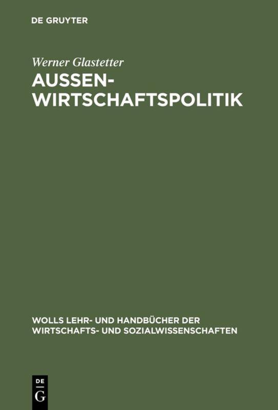 Cover-Bild Aussenwirtschaftspolitik