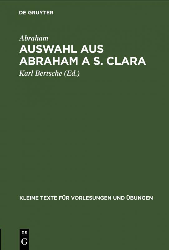 Cover-Bild Auswahl aus Abraham a S. Clara