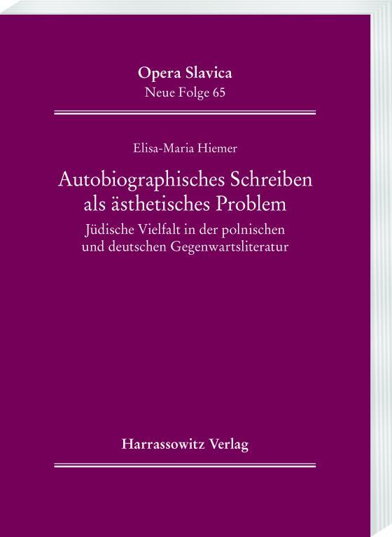 Cover-Bild Autobiographisches Schreiben als ästhetisches Problem