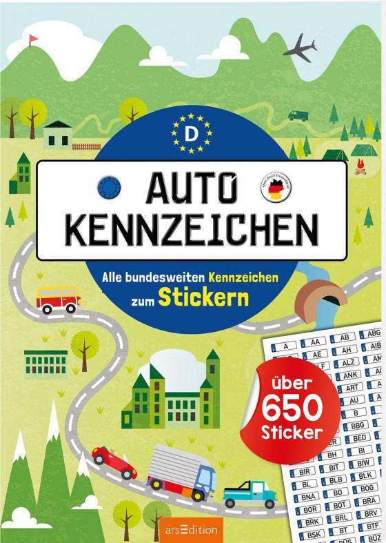 Cover-Bild Autokennzeichen - Alle bundesweiten Kennzeichen zum Stickern