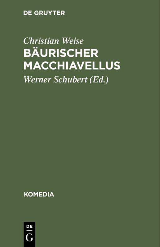 Cover-Bild Bäurischer Macchiavellus